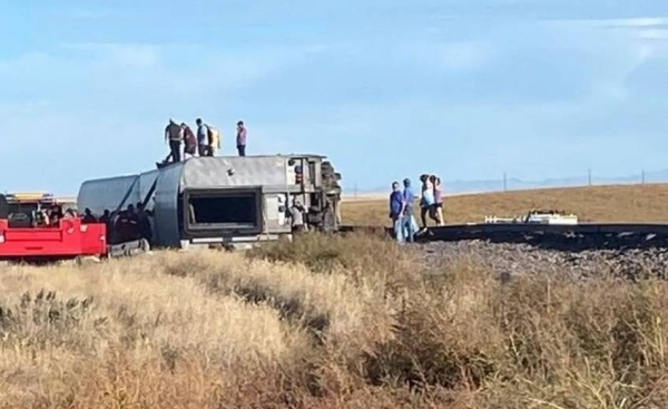 A passenger train with over 100 people on board derailed in the northern US state of Montana on Saturday afternoon, killing at least three people and injuring multiple others. Courtesy photo