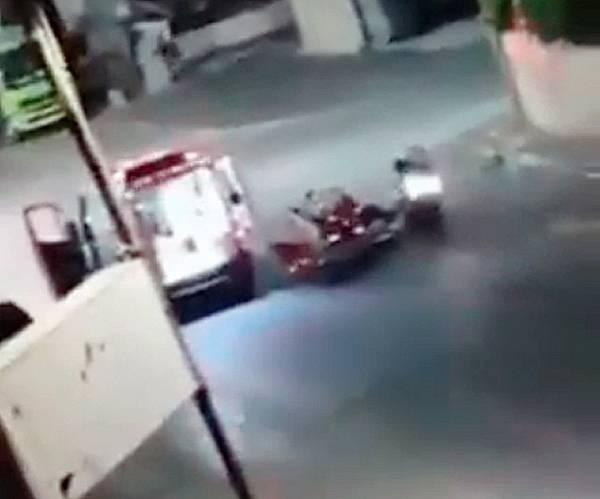 Videograb of a Palestinian victim being rushed to the hospital in Jenin after being shot by the Israeli police.