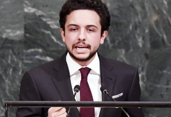 Jordanian Crown Prince Hussein Bin Abdullah, seen in this file photo, tested positive for COVID-19 on Monday.