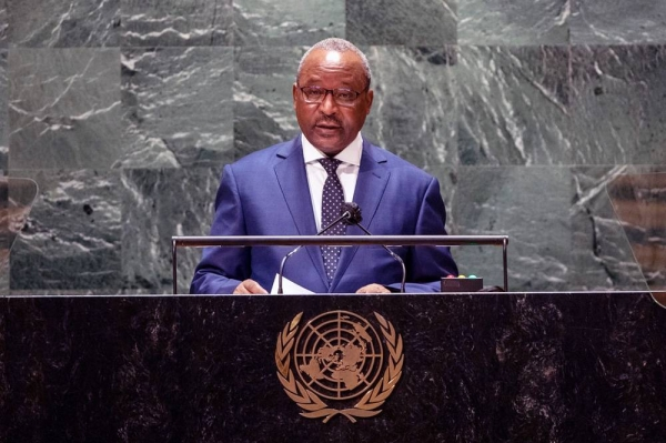 Foreign Minister Hassoumi Massoudou of Niger addresses the general debate of the UN General Assembly's 76th session. — courtesy UN Photo/Cia Pak
