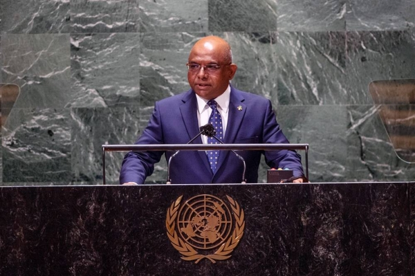UN General Assembly President Abdulla Shahid addresses the closing of general debate of the UN General Assembly's 76th session. — courtesy UN Photo/Cia Pak