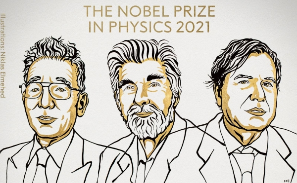 The 2021 Nobel Prize in Physics is shared by three scientists.