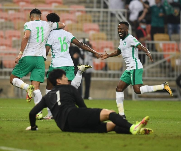 Sami's brace seals Saudi Arabia on 4th winning streak in World Cup qualifier