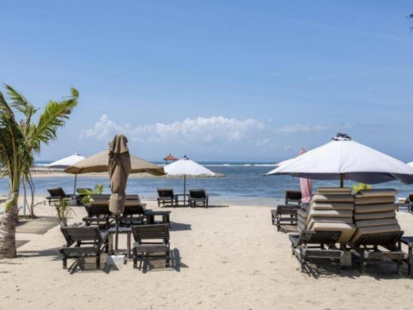 Bali's beaches have been fairly deserted since travel restrictions were put in place last year.