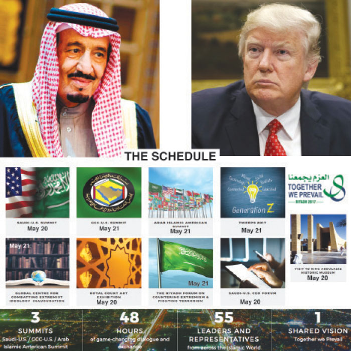 Trump leaves for KSA tomorrow